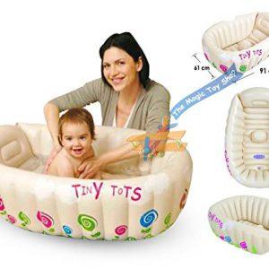 Tiny-Tots-Baignoire-pour-bb-gonflable-de-voyage-portable-baignoire-Capteur-sans-phtalates-0