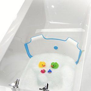 NEUF-BabyDam-Eau-du-bain-Barrire-baignoire-pour-bb-Blanc-Bleu-0