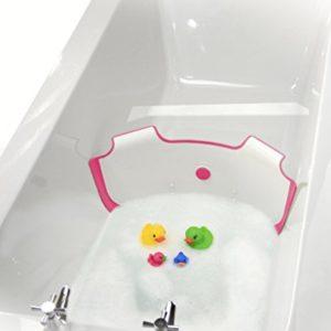 NEUF-BabyDam-Eau-du-bain-Barrire-baignoire-pour-bb-Blanc-Rose-0