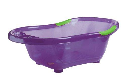 dBb-Remond-Baignoire-Violette-Translucide-avec-Bouchon-de-Vidange-et-Poignes-Antidrapantes-Vertes-0