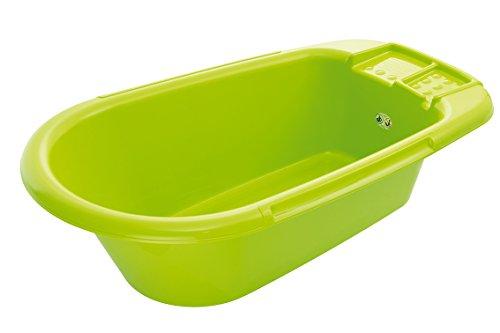 Rotho-Babydesign-Baignoire-Bb-Avec-Bouchon-de-Vidange-0-12-Mois-Bella-Bambina-Apple-Green-Vert-200200205-0