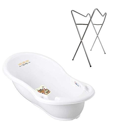 Tega-Baby–baignoire-ergonomique-86cm-SET-3-pices-avec-cadre-pliant-tuyau-dvacuation-de-leau-avec-bouchon-et-thermomtre-baignoire-bb-0-12-mois-0