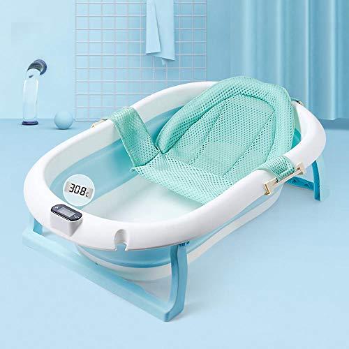 Baignoire-bb-avec-thermomtre-baignoire-bb-nouveau-n-avec-tapis-antidrapant-baignoire-pliable-et-ranger-bleu-et-rose-0